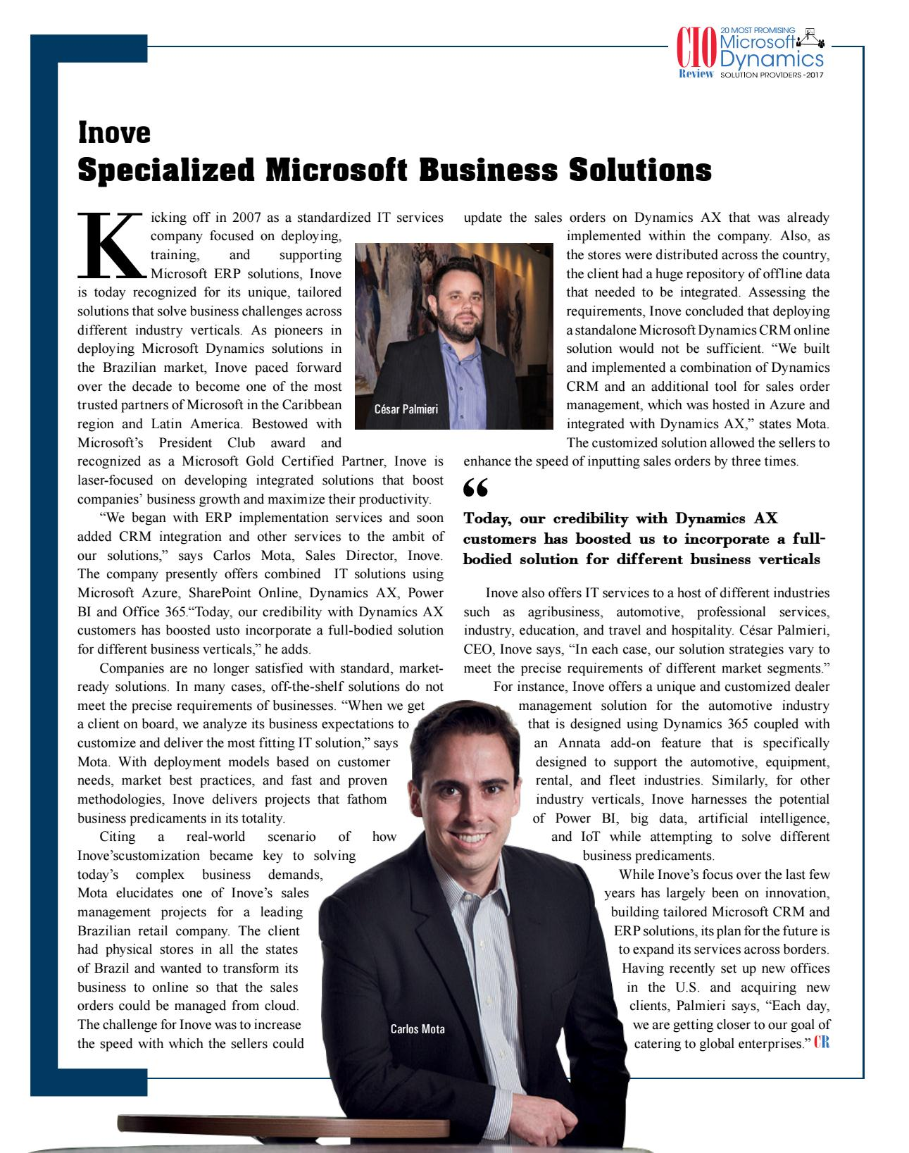 Microsoft Dynamics Solution Providers 2017